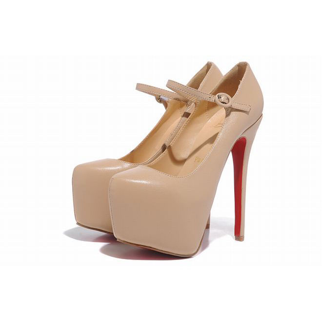 Red Bottom Christian Louboutin Lady Daf 160mm Patent Leather Mary Jane Pumps Nude