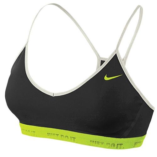 Nike Favorites Bra - Women's - Basketball - Clothing - Black/Volt/Sail/Volt