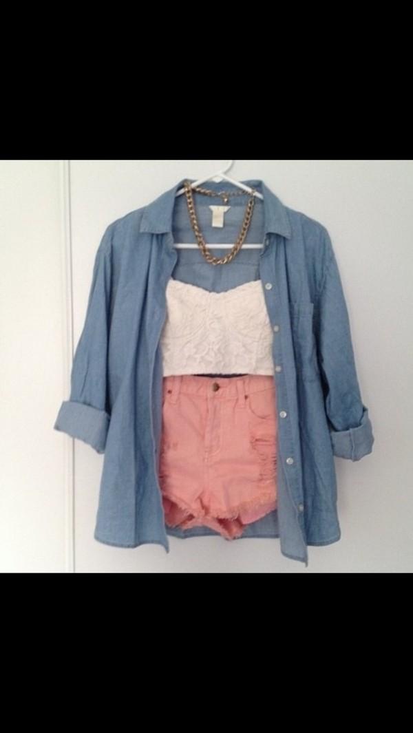 shorts blouse tank top dress jacket