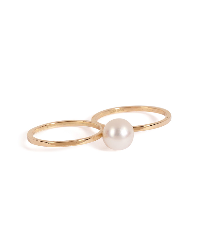 14kt Gold Ring with Fresh Water Pearl from SOPHIE BILLE BRAHE | Luxury fashion online | STYLEBOP.com