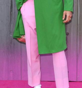 pants jared leto pink pants mens pants