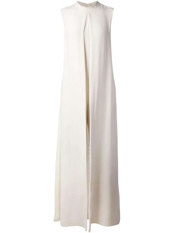 dress Valentino white dress sleeveless dress flowing gown