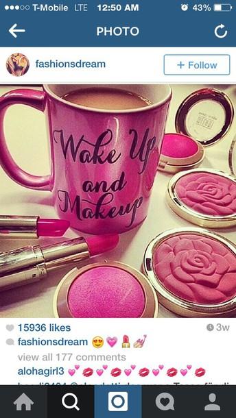make-up coffee wake up make-up