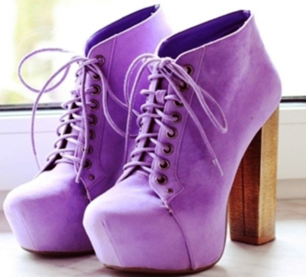 shoes high heels lilac purple shoes