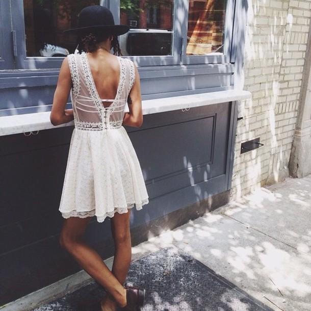 dress white black dress