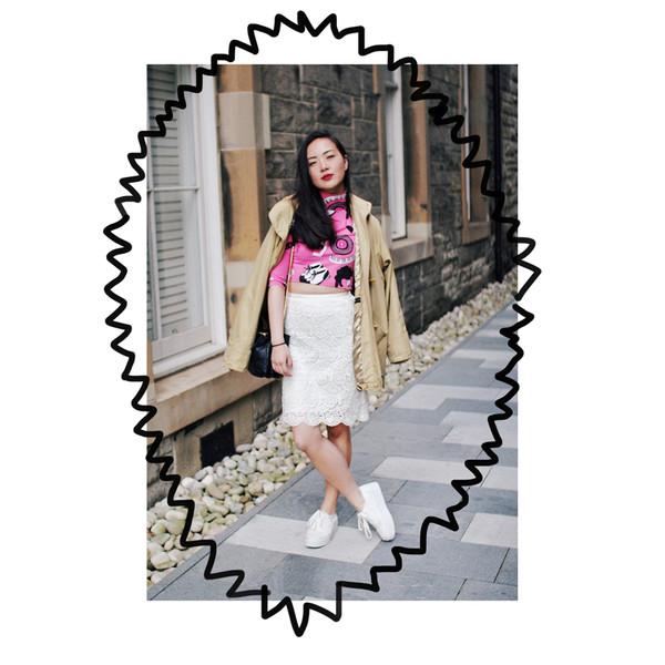 elle victoire top skirt shoes coat