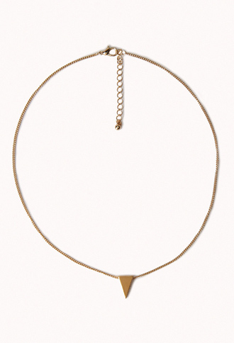 Womens Triangle Necklace | Forever21.com | Ladies Triangle Necklace, Female Triangle Necklace