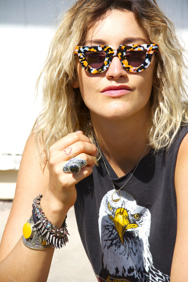 jewels jewelry jewelry accessories fashion rock rockchick edgy eagle bangle silver cast eyewear sunnies shades sunglasses gypsy boho milk the goat heart milkmaid summer sunshine