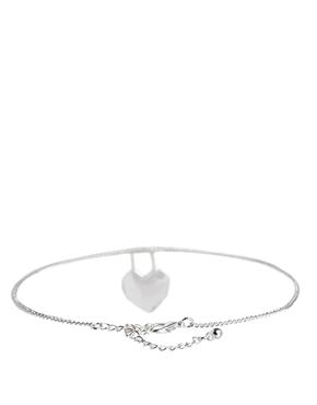ASOS | ASOS Heart Fine Chain Choker Necklace at ASOS