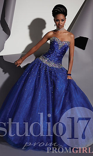 Prom Dresses, Celebrity Dresses, Sexy Evening Gowns - PromGirl: Long Strapless Sweetheart Ball Gown