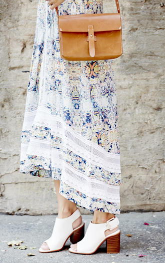 damsel in dior romper bag shoes paisley high heels sandals open toes blogger zara madewell crossbody bag clutch summer outfits maxi dress boho chic classy