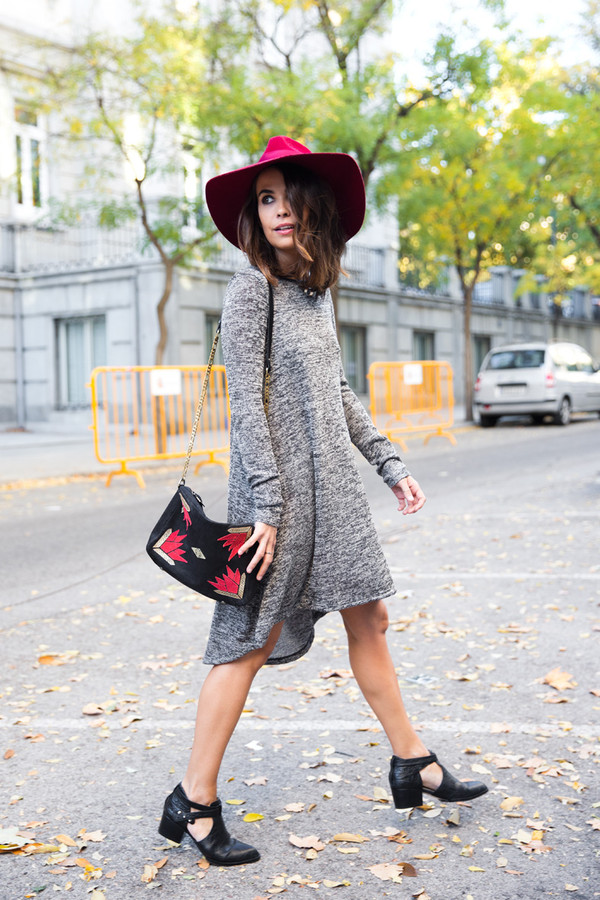 collage vintage dress hat shoes bag