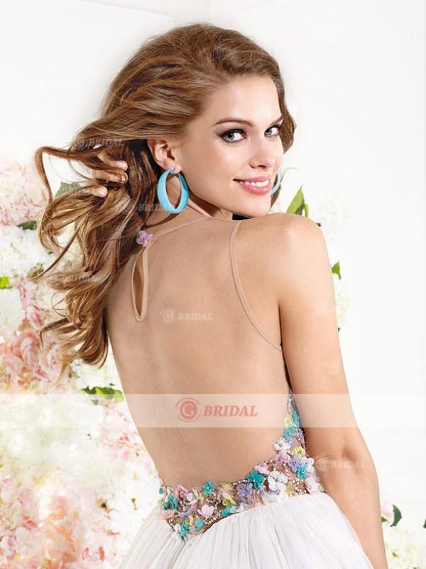 A-Line Sweetheart Zipper Short/Mini Chiffon Sleeveless Cocktail Dresses