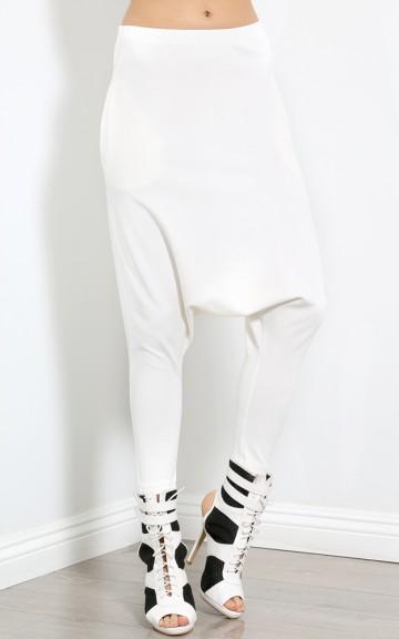 Mirage Harem Drop Bottom Pants | MakeMeChic.com