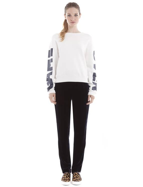 Sweat Taquin Ecru - T-shirts Sandro - E-Boutique Officielle SANDRO / Collection Printemps-Été 2013 SANDRO