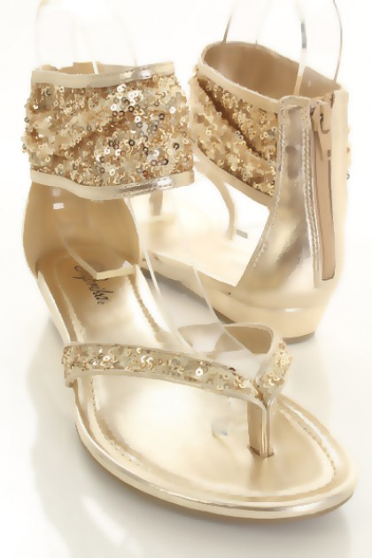 Gold Sequin Faux Leather Thong Ankle Wrap Zipper Sandals @ Amiclubwear Sandals Shoes online store sale:Sandals,Thong Sandals,Women's Sandals,Dress Sandals,Summer Shoes,Spring Shoes,Wooden Sandal,Ladies Sandals,Girls Sandals,Evening Dress Shoes,Casual Sand