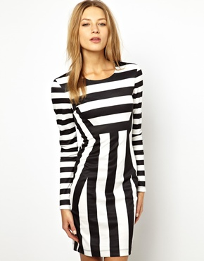 Brave Soul | Brave Soul Stripe Bodycon Dress at ASOS