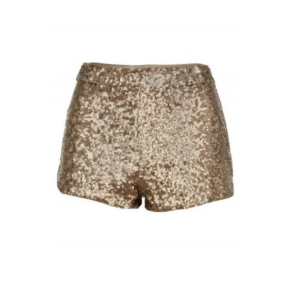 Matt Gold Sequin Shorts - Polyvore