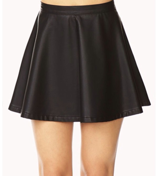 skirt black leather black leather skirt cute hipster rock