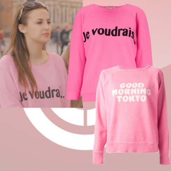 sweater je voudrais lucy watson jumper quote on it madeinchelsea french