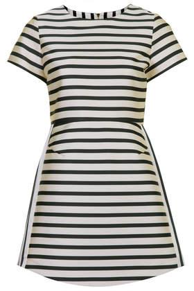Petite Satin Stripe A-line Dress - Topshop USA