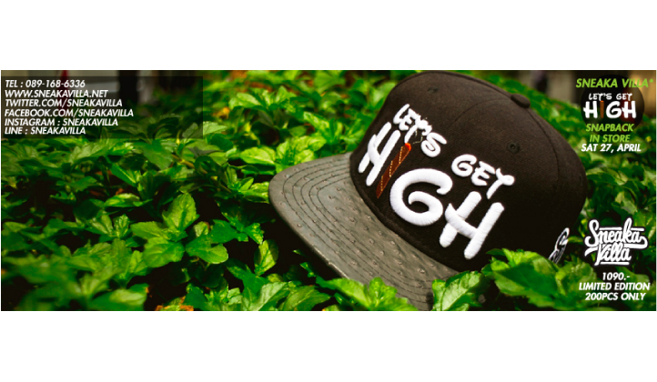 """""""Let's Get High"""" Snapback  Limited Edition 