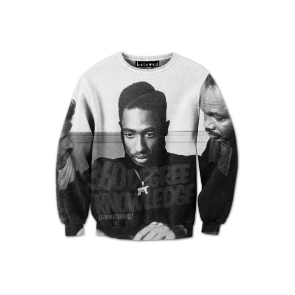2pac Learn Sweatshirt | #belovedshirts ($59.00) - Polyvore