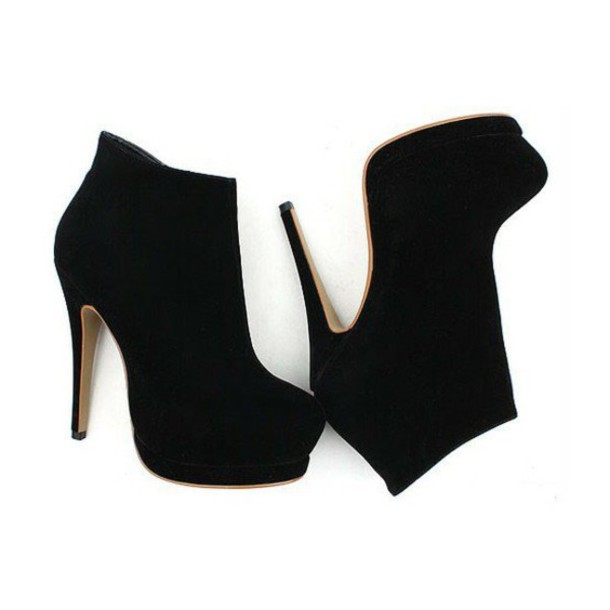 shoes ankle boots heels black shoes