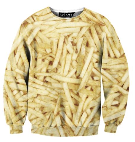 Cheap Sweatshirt: Fries Sweatshirt at Belovedshirts