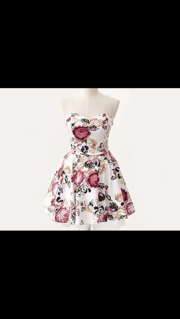 dress white strapless