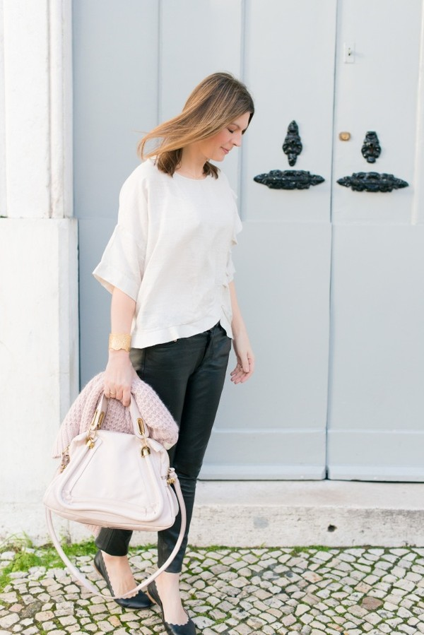 the working girl pants bag sweater jewels