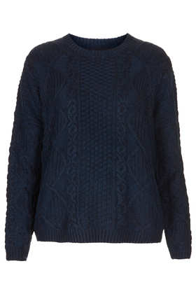 Knitted Cable Boxy Jumper - Topshop