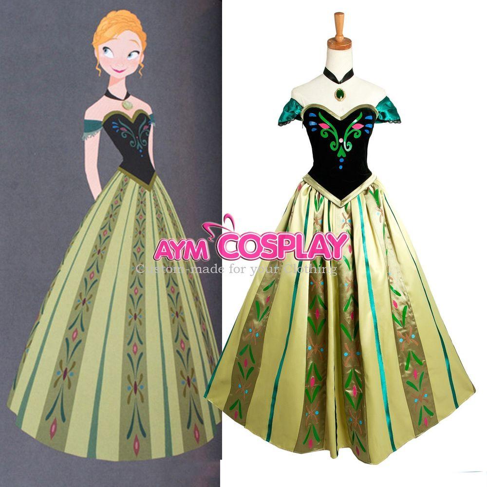 Frozen Anna Dress Disney Movie Costume Cosplay Tailor Made G1240 | eBay