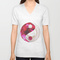 Flower yin yang unisex v-neck by adh graphic design