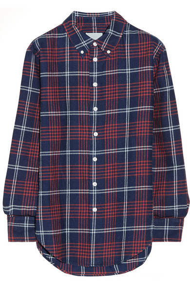 Band of Outsiders | Plaid cotton-flannel boyfriend shirt | NET-A-PORTER.COM
