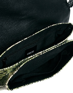 ASOS | ASOS Cross Body Bag With Snake Front Pocket at ASOS