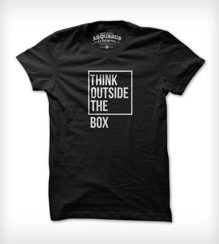 Think Outside The Box T-Shirt | Men's Clothing | Arquebus Clothing | Scoutmob Shoppe | Product Detail