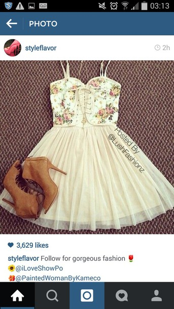 dress lace up tutu dress tutu prom dress floral dress shoes heels suade shoes pink dress