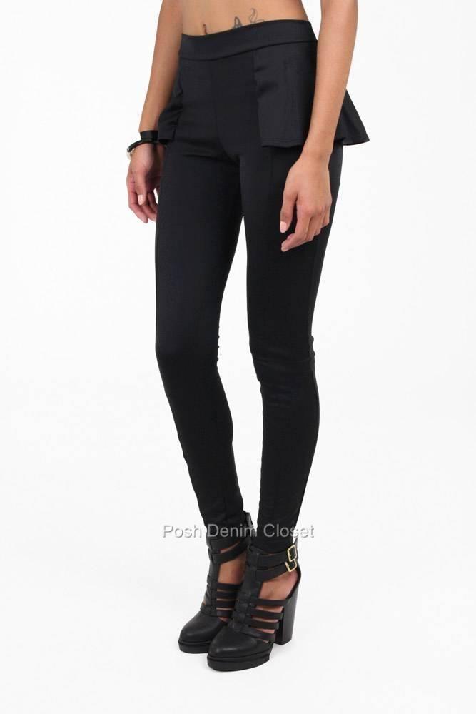 Shadow Dancer Knit High Waist Black Peplum Leggings 4512B | eBay