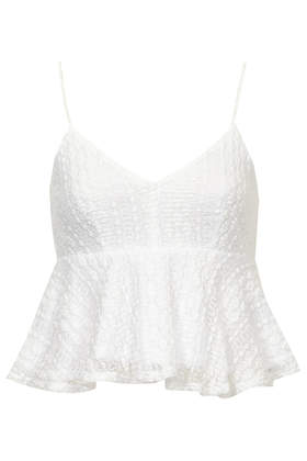 Peplum Lace Cami Top - Camis - Tops - Clothing- Topshop
