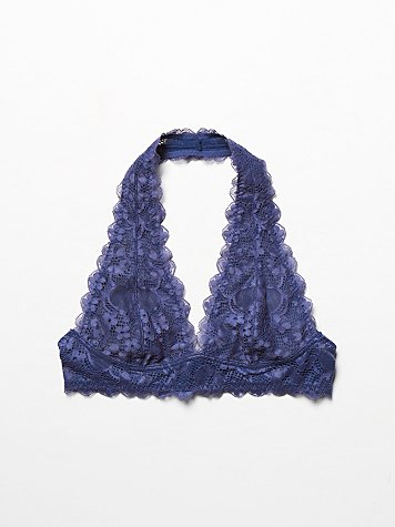 Intimately Free People  Galloon Lace Halter Bra at Free People Clothing Boutique