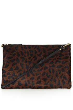 Pony Zip Top Clutch Bag - Bags & Purses  - Bags & Accessories  - Topshop