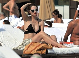 black swimwear wrap bikini swimwear