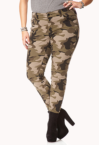 Camo Skinny Jeans | FOREVER21 PLUS - 2050904334