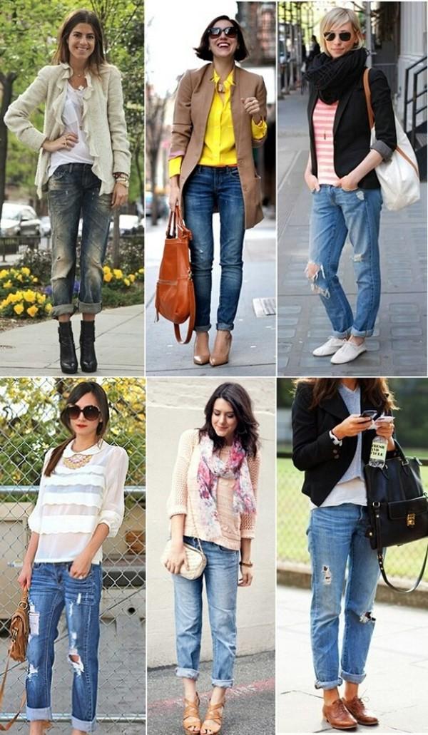 coat blouse jeans