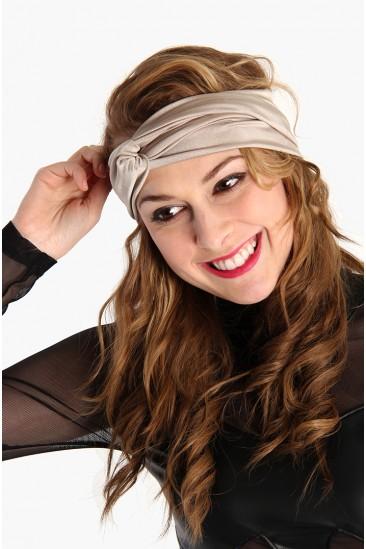 LoveMelrose.com From Harry & Molly   Turban Headband - Creme