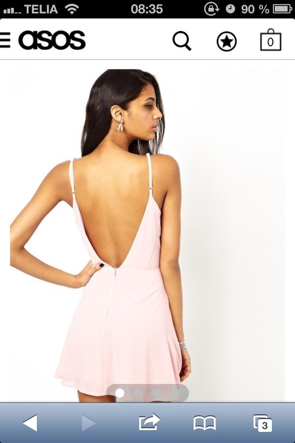 dress low back dress white dress pink dress short dress