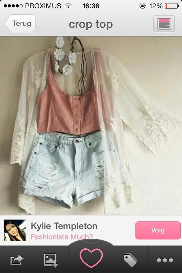 blouse hat shorts