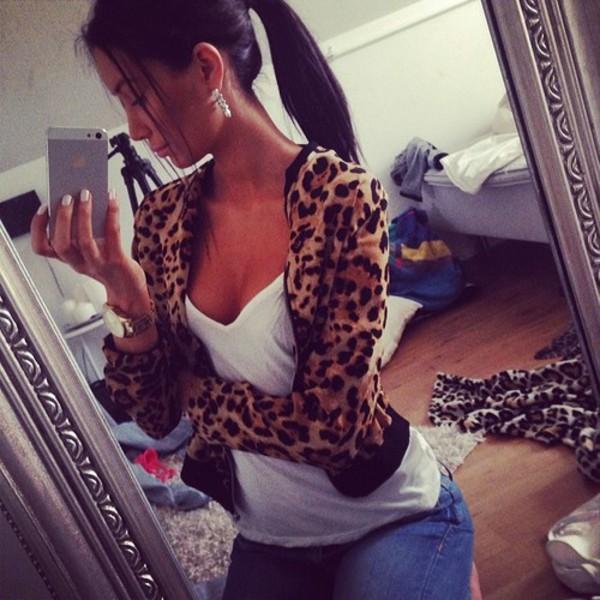 jacket leopard print leopard print
