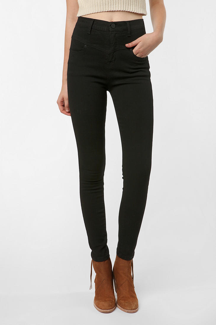 BDG High-Rise Seamed Jean - Black - Urban Outfitters